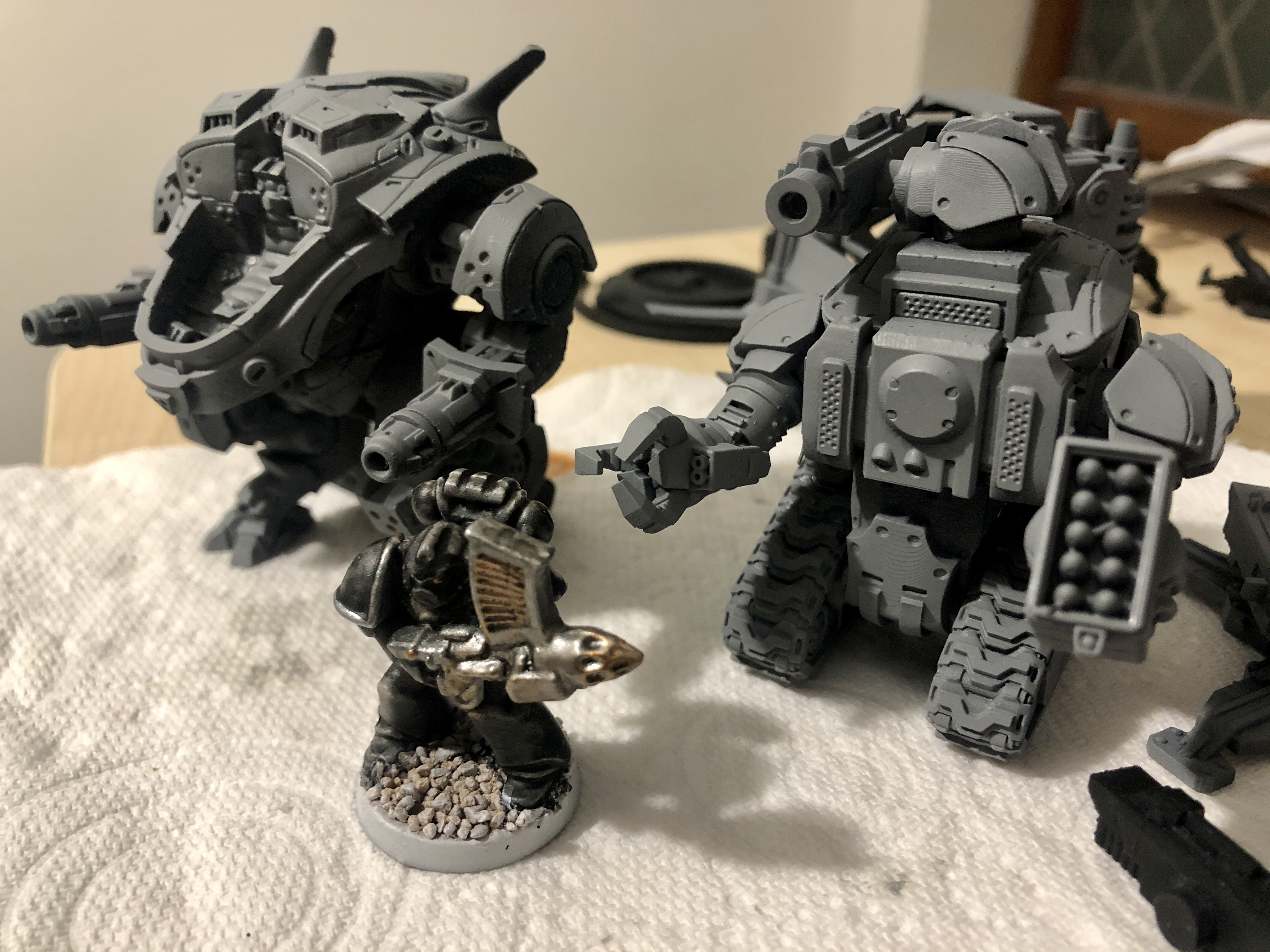 Undercoated models
