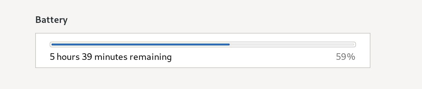 screenshot of battery discharge